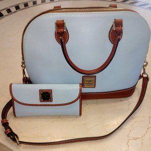 Sky Blue Dooney & Bourke bag and matching wallet